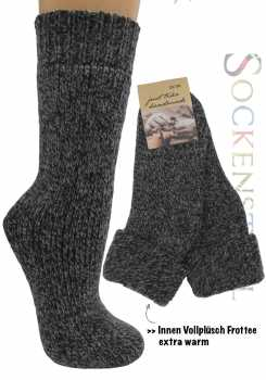 Warme Wollsocken | grau melange