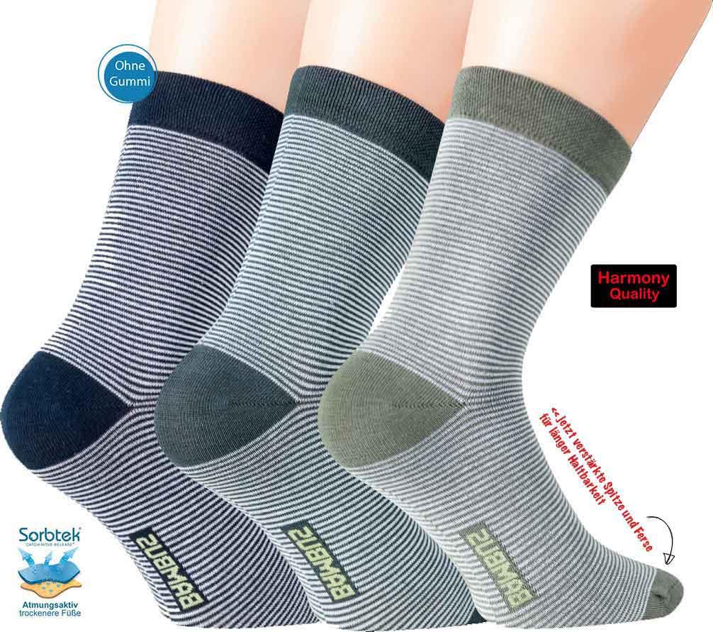 für Damen und Herren extra warm 3er Pack Socken mit Bambus